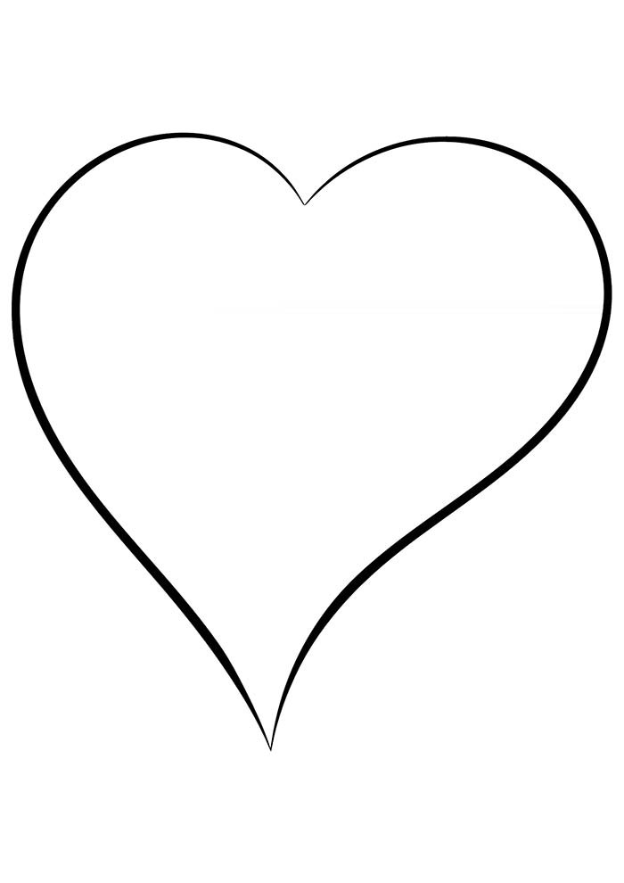 heart coloring page smart