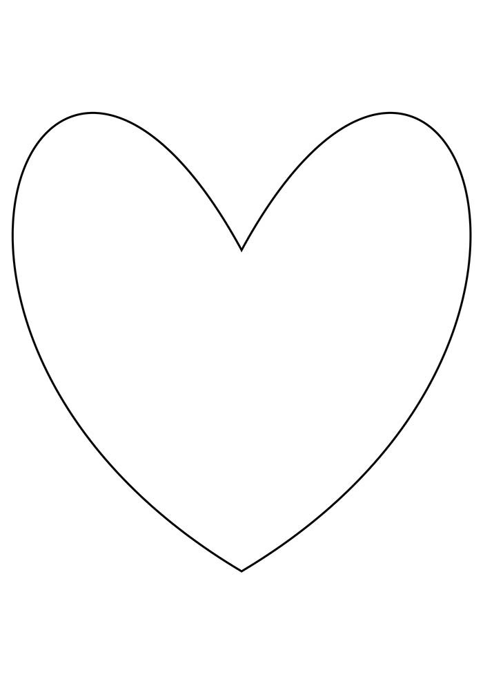 heart coloring page thin