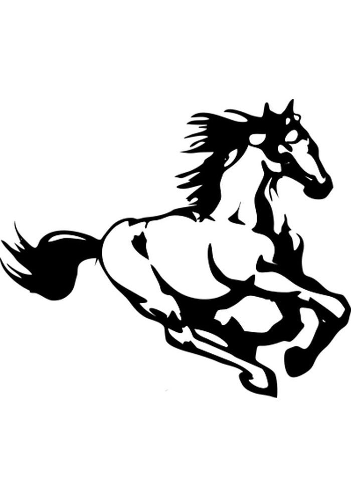 horse coloring page for adults