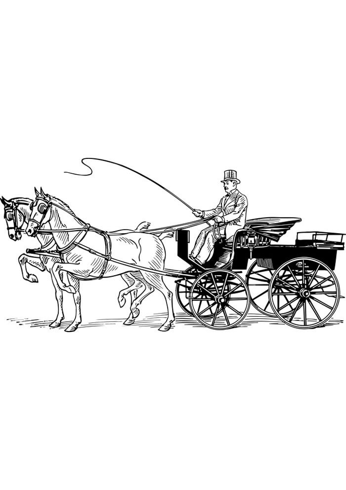 horse coloring page to print