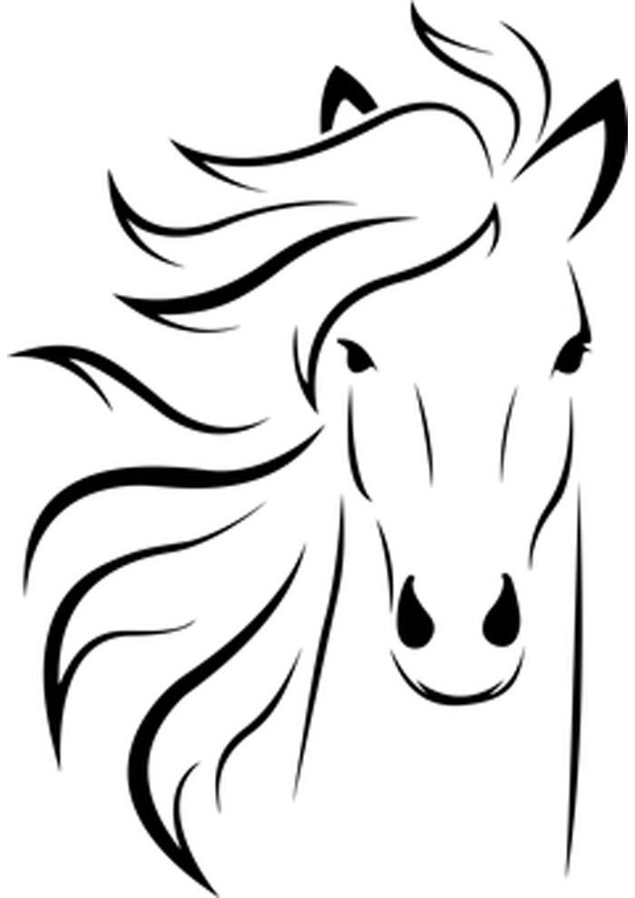 horse face coloring page