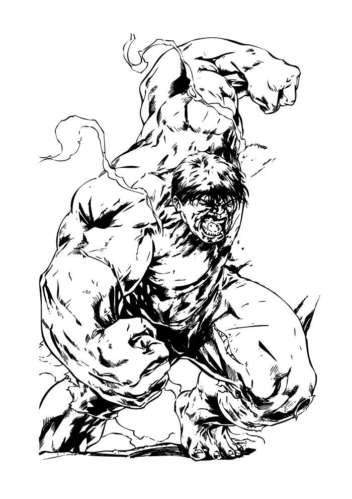 hulk coloring page angry