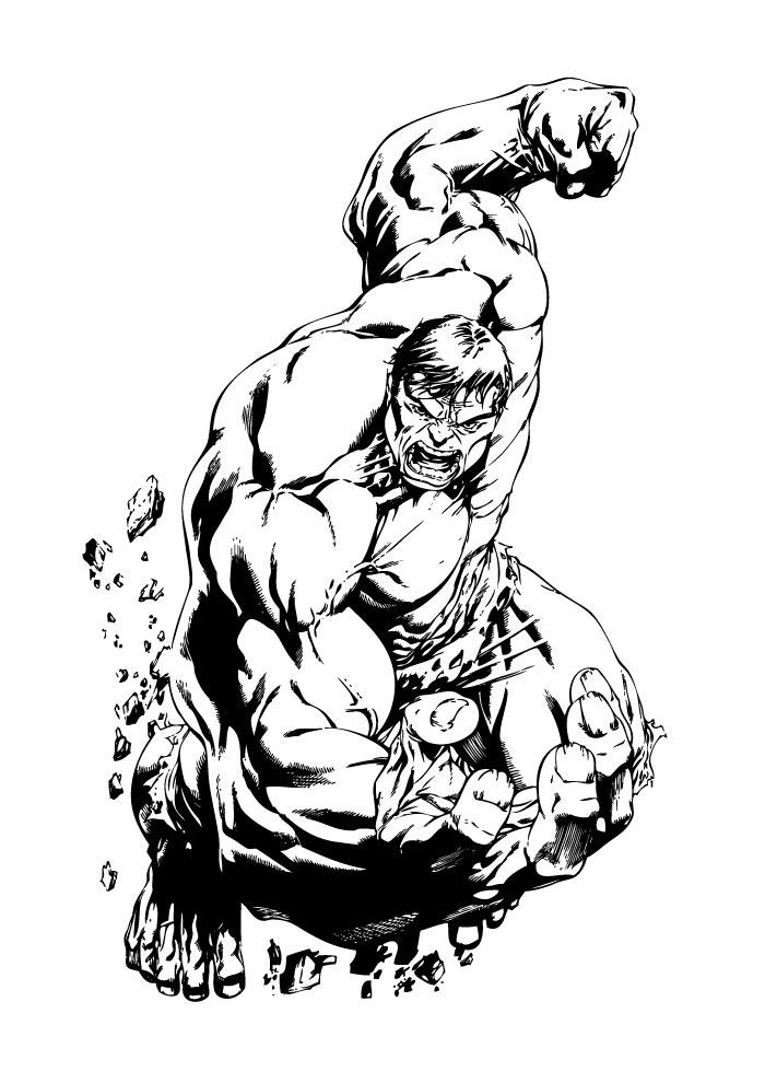 hulk coloring page screaming