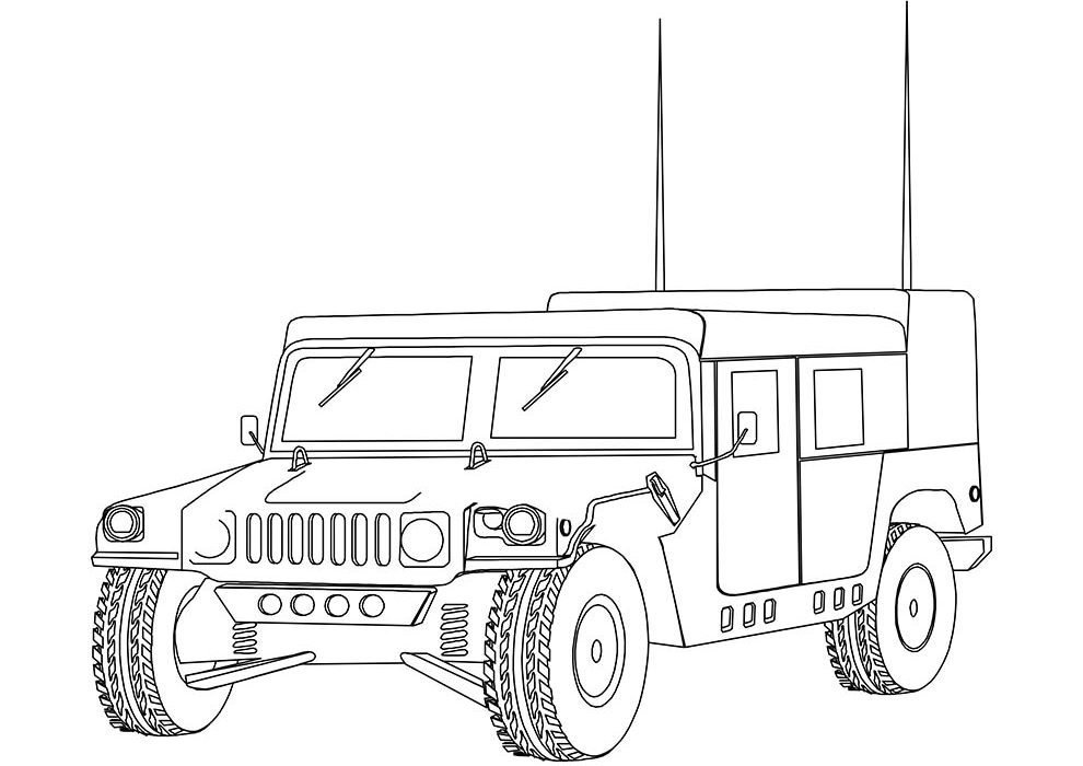 hummer coloring page