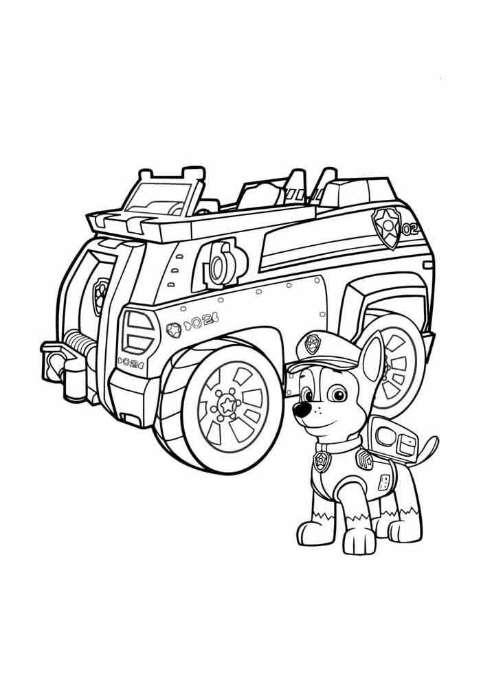 image paw patrol coloring page