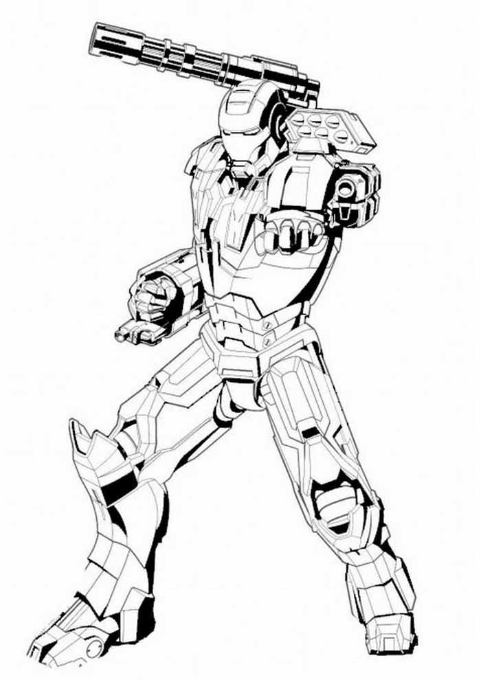 iron man coloring page 13