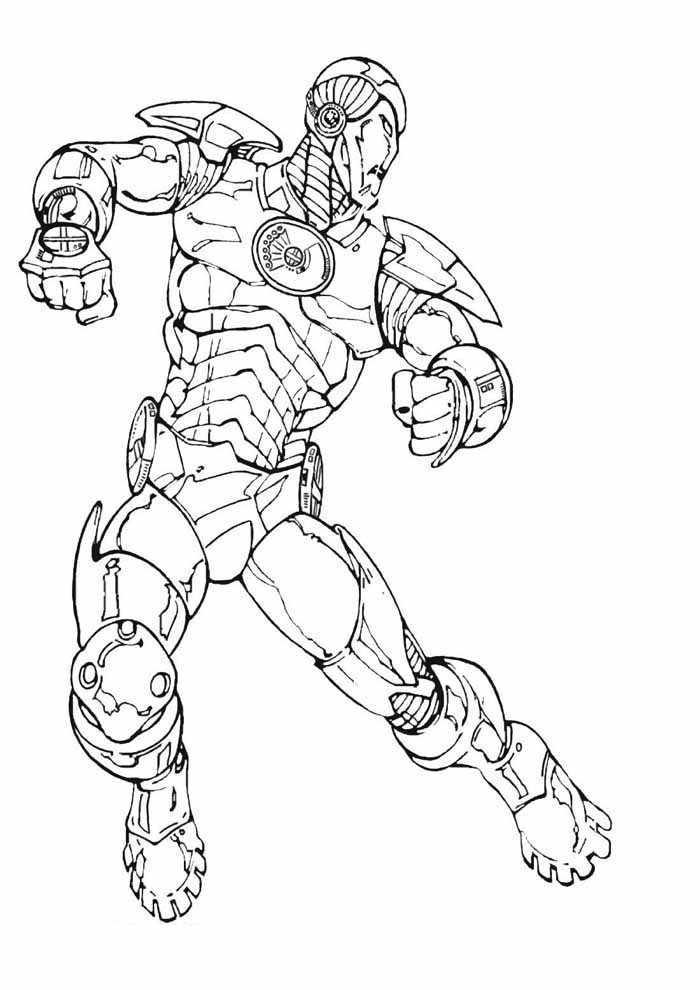 iron man coloring page 14
