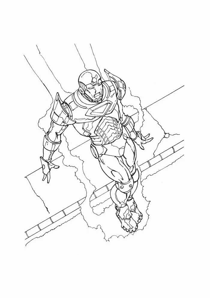 iron man coloring page 16