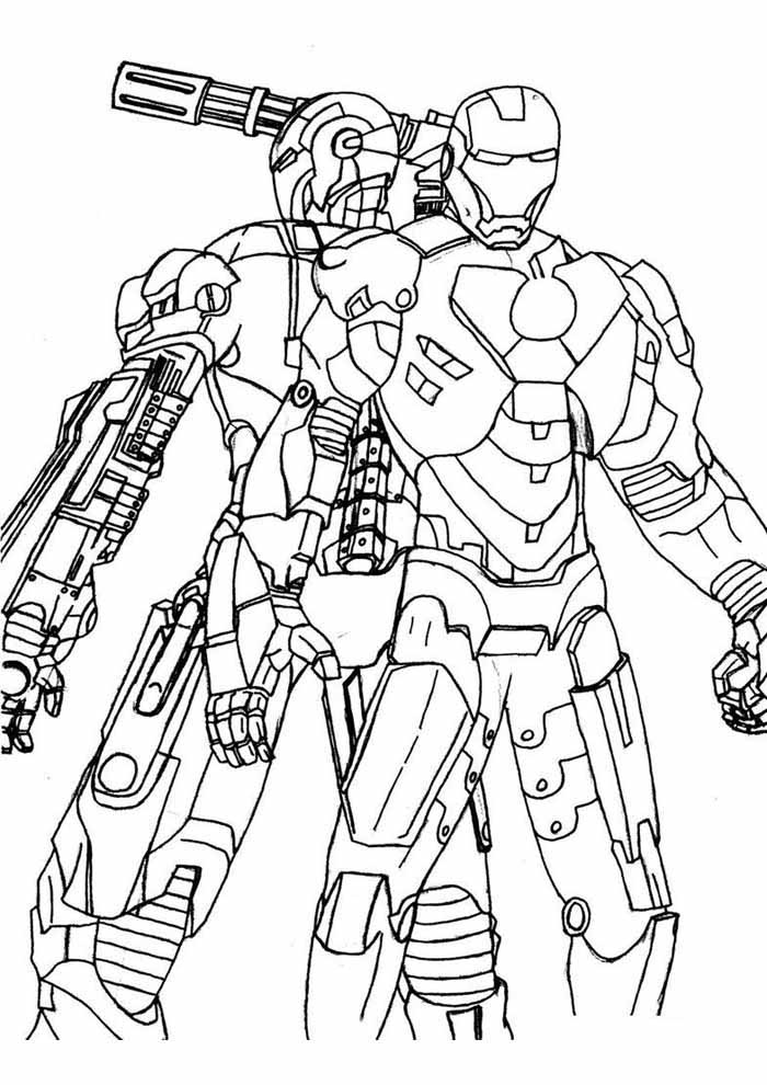 iron man coloring page 17