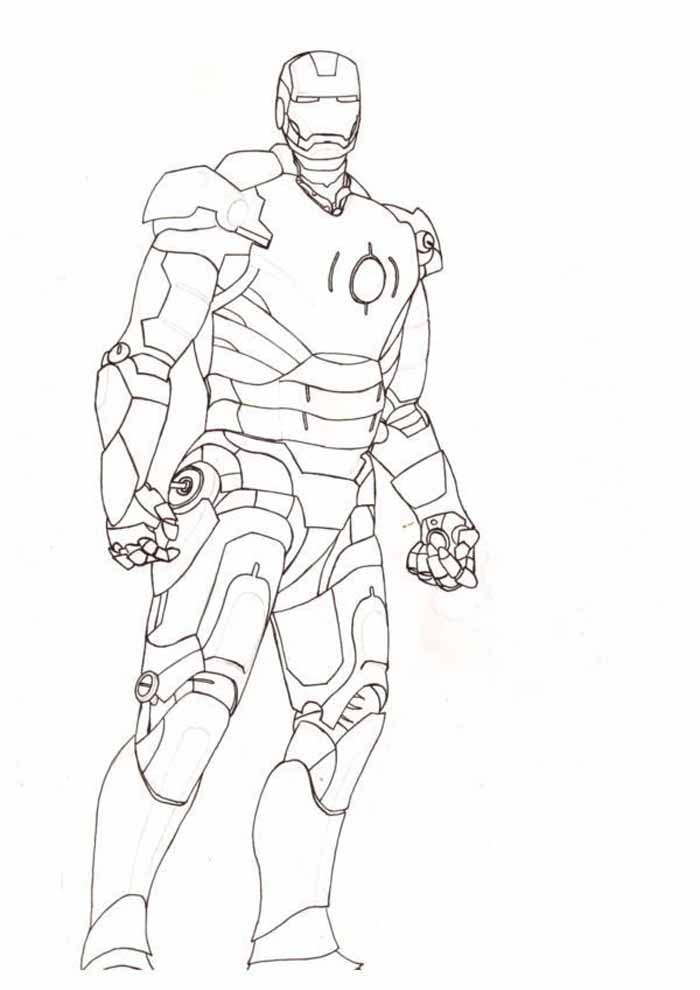 iron man coloring page 20
