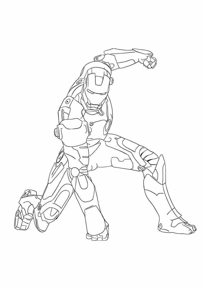 iron man coloring page 22