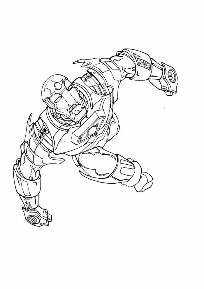 iron man coloring page 24