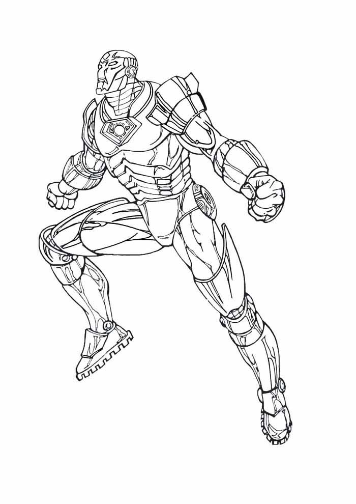 iron man coloring page 28