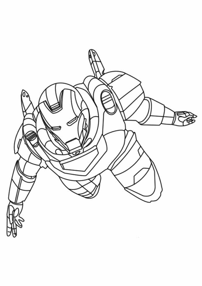 iron man coloring page 3