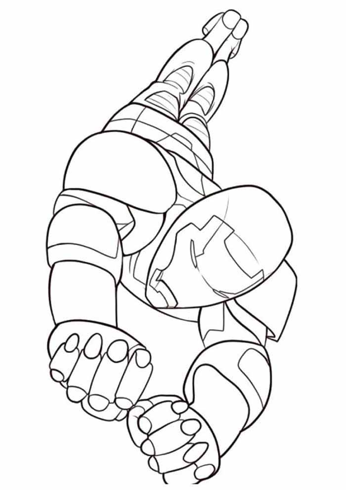 iron man coloring page 31