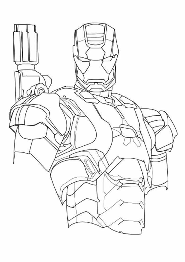 iron man coloring page 34