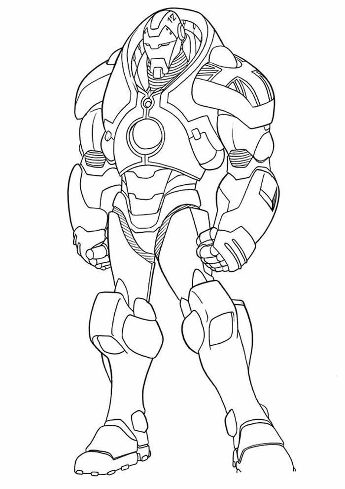 iron man coloring page 35
