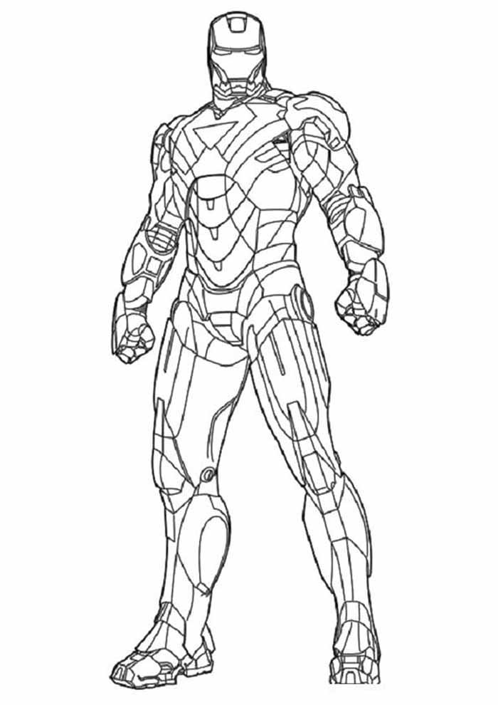 iron man coloring page 36
