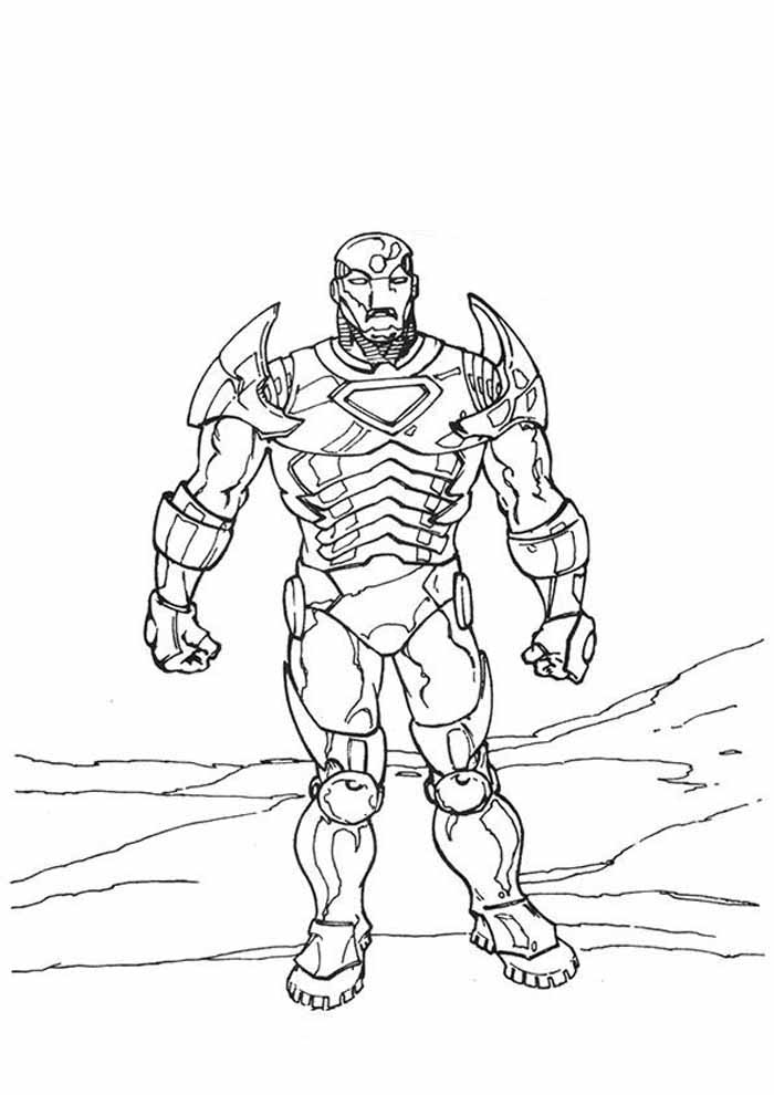 iron man coloring page 37