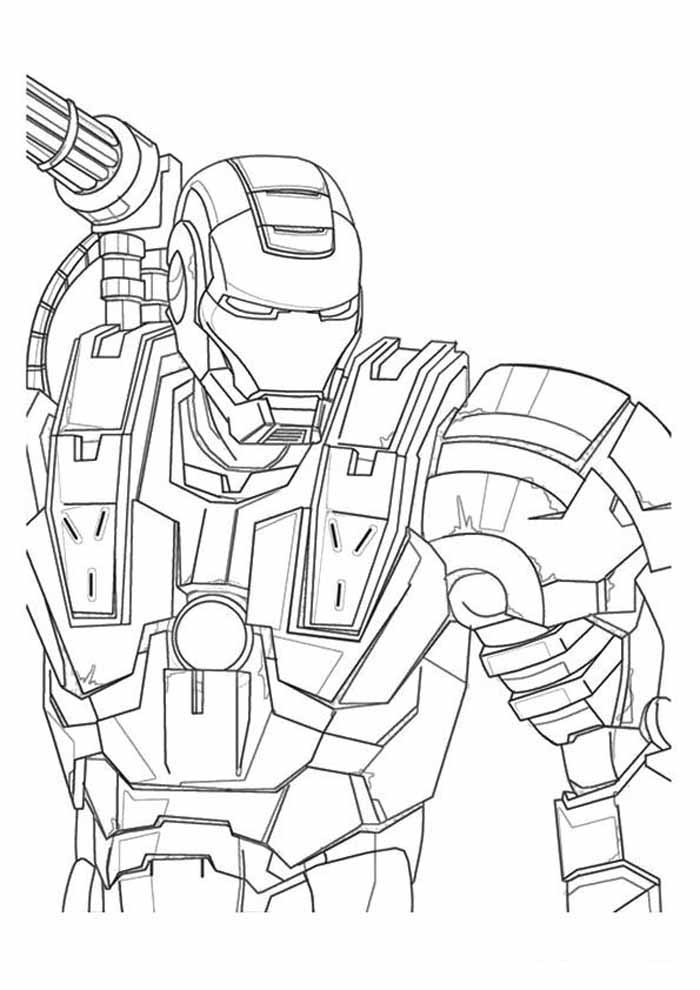 iron man coloring page 38