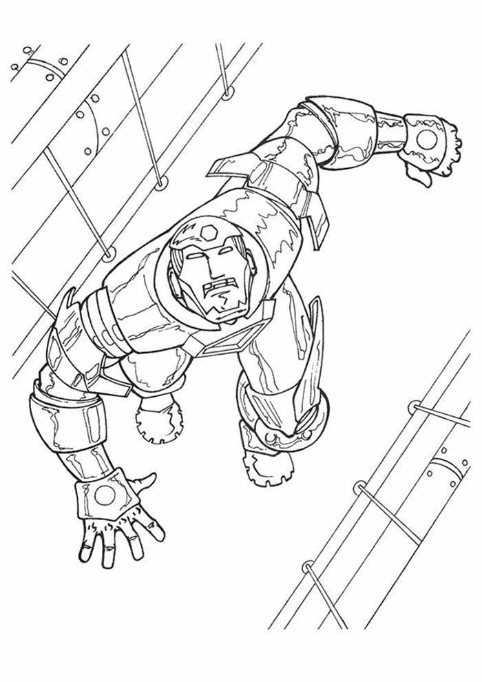 iron man coloring page 39