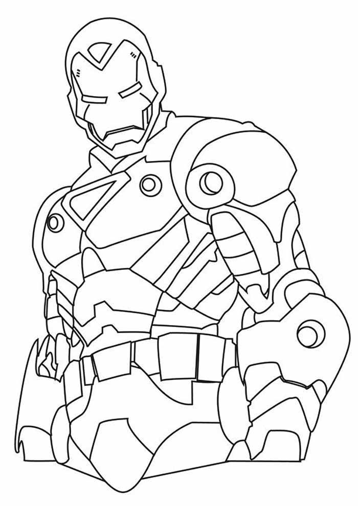 iron man coloring page 40