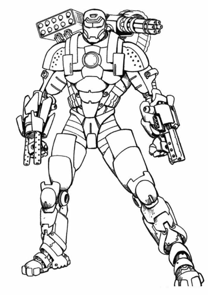 iron man coloring page 41