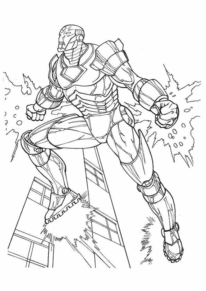 iron man coloring page 42