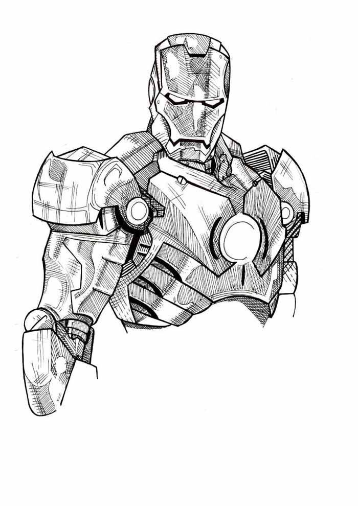 iron man coloring page 8