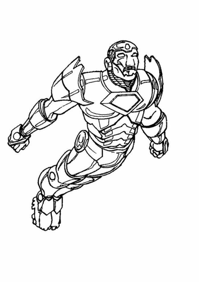 iron man coloring page flying