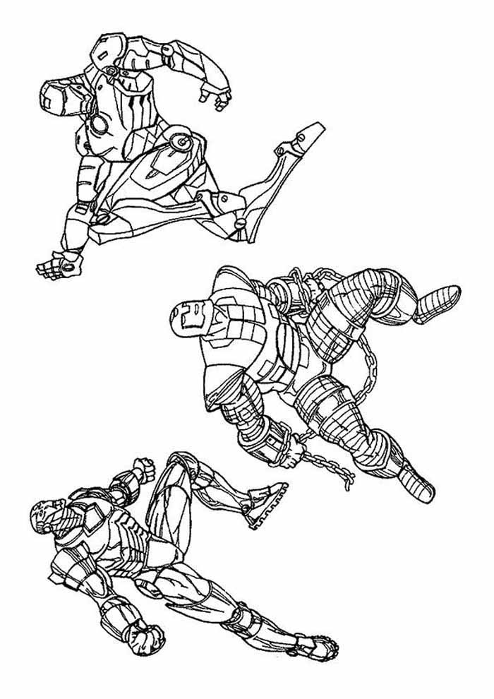 iron man coloring page friends