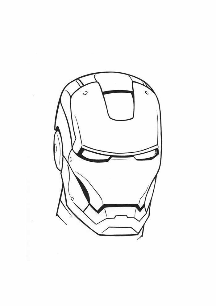 iron man mask coloring page