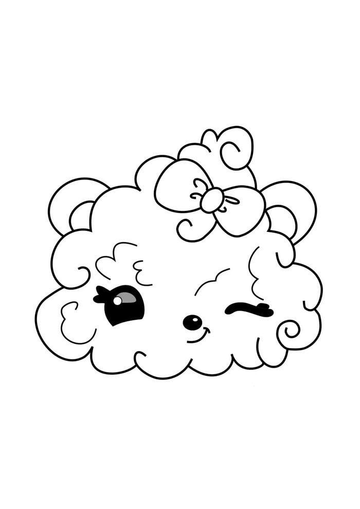kawaai coloring page cute cloud