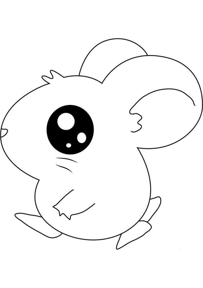 kawaai coloring page mouse