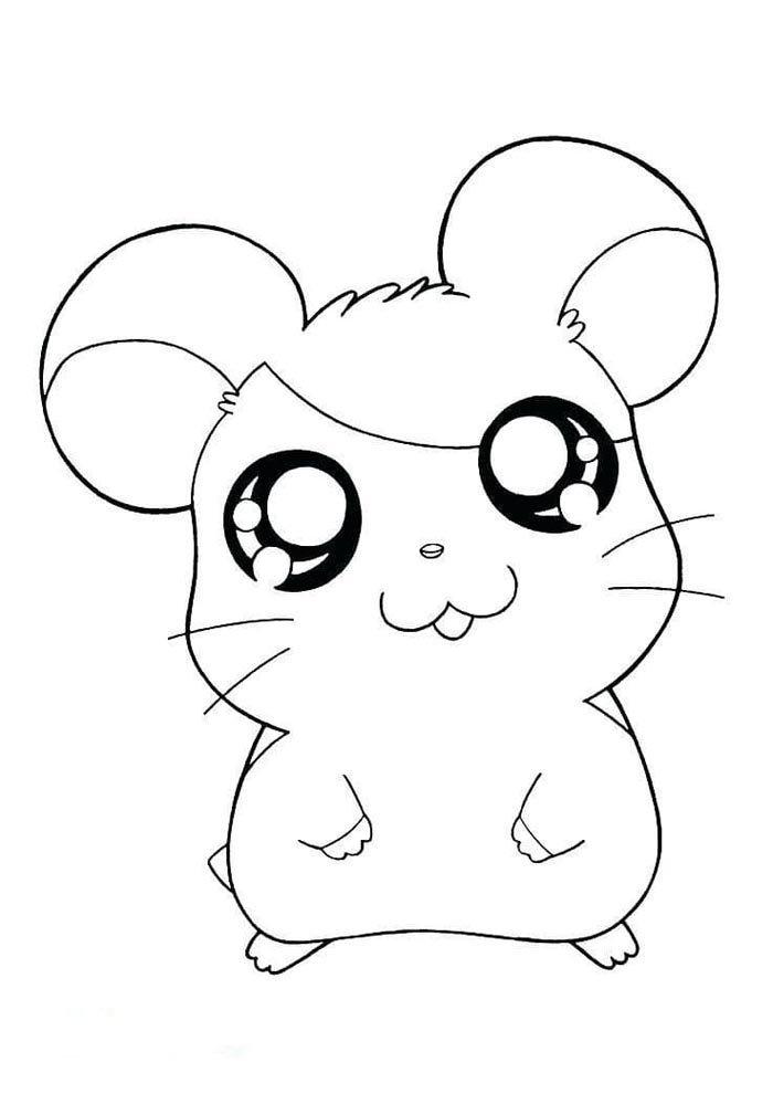kawaii coloring page cute