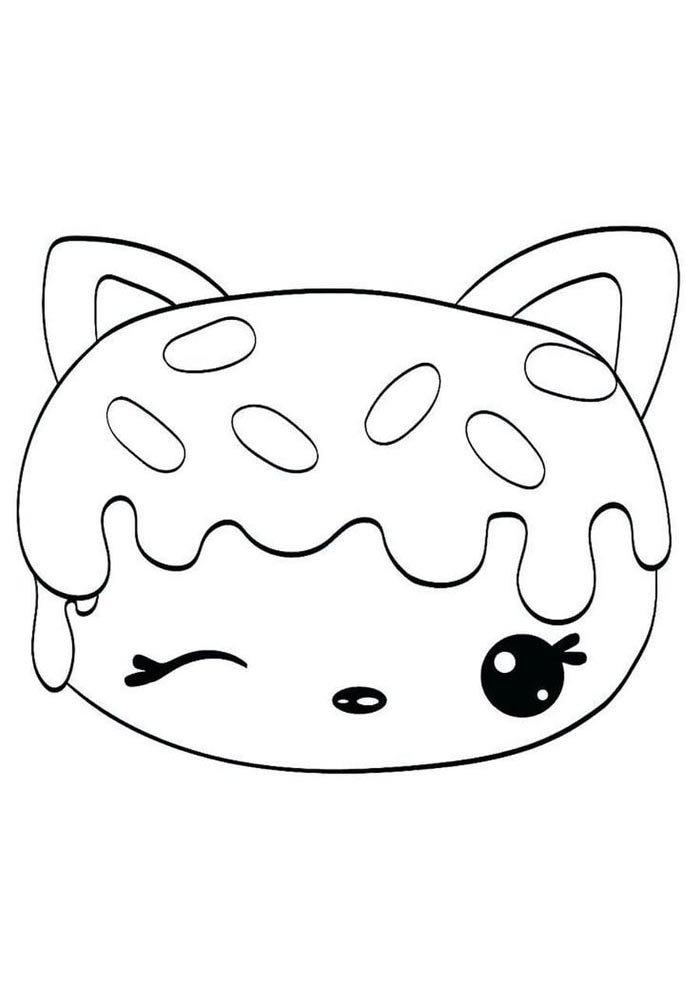 kawaii coloring page face
