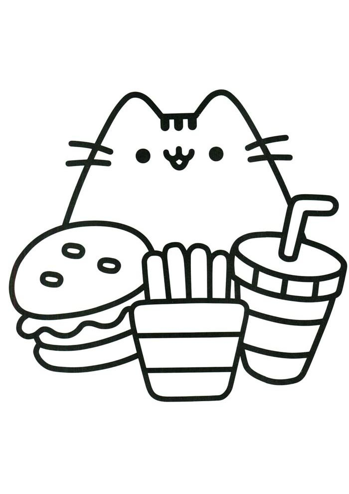 kawaii coloring page food