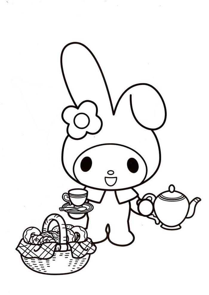 kawaii coloring page hello kit
