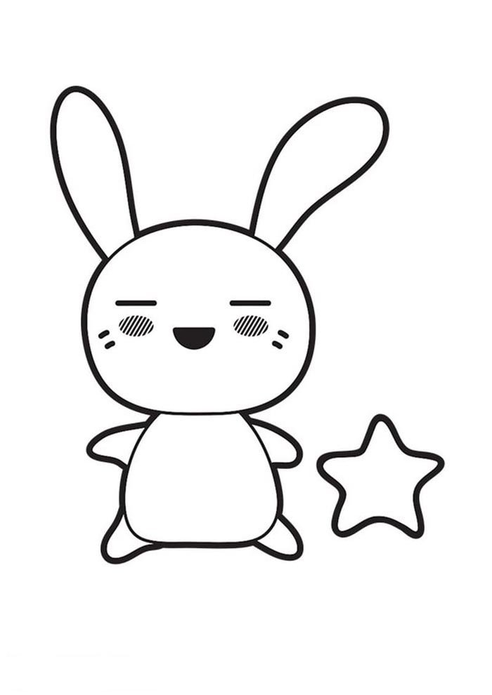 kawaii coloring page little cat