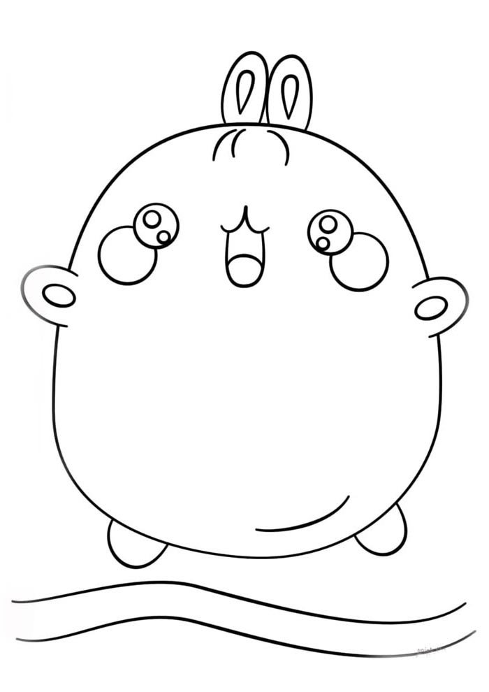 kawaii coloring page little cute