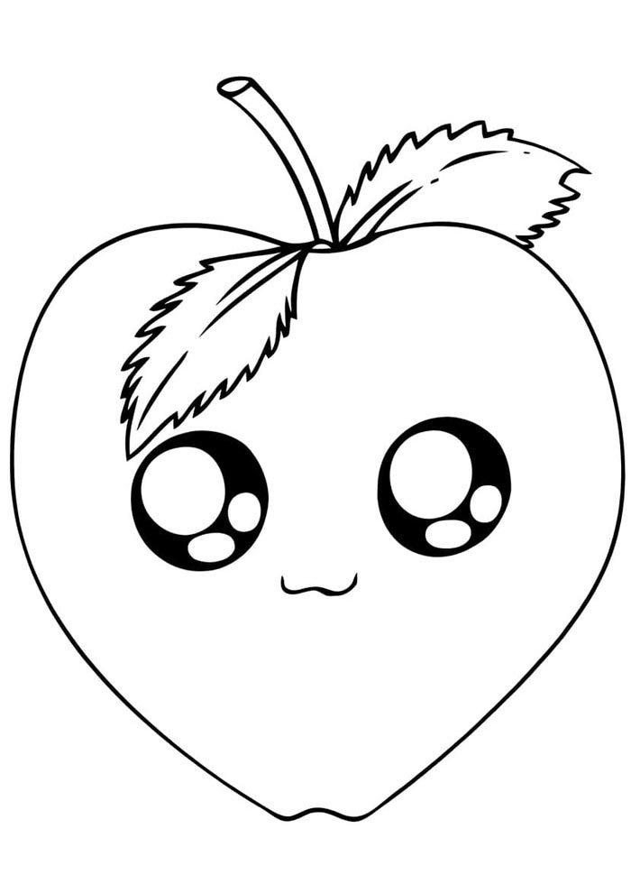 kawaii coloring page strawberry