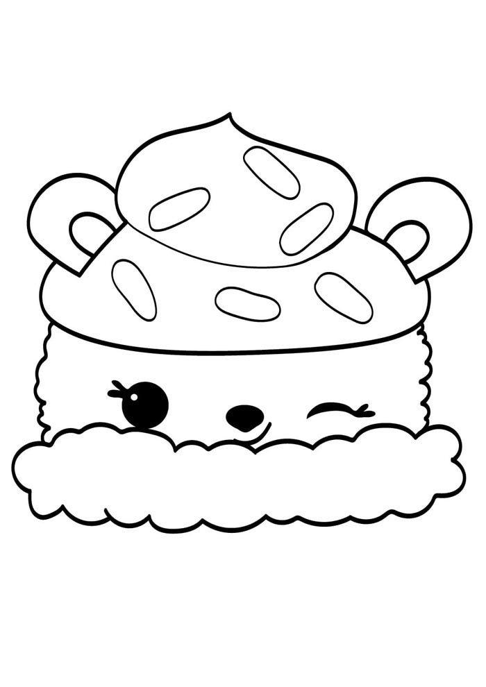 kawaii coloring page sweet