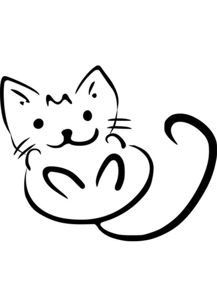 kitty coloring page