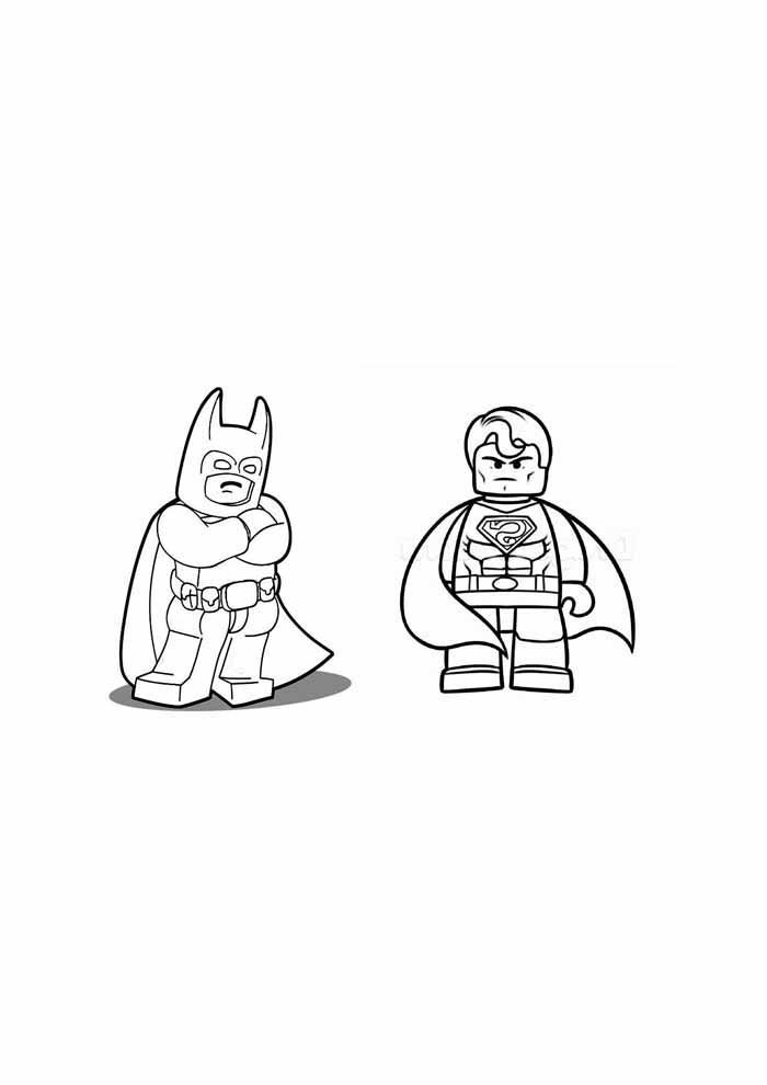 lego batman and robin coloring page