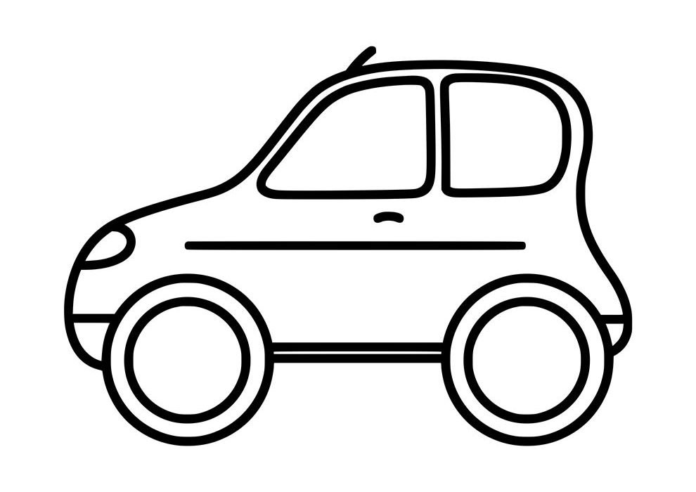 little car coloring page