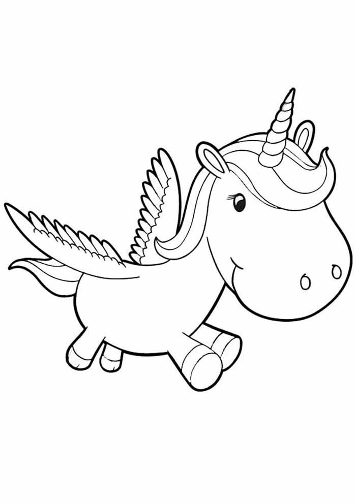 little unicorn coloring page