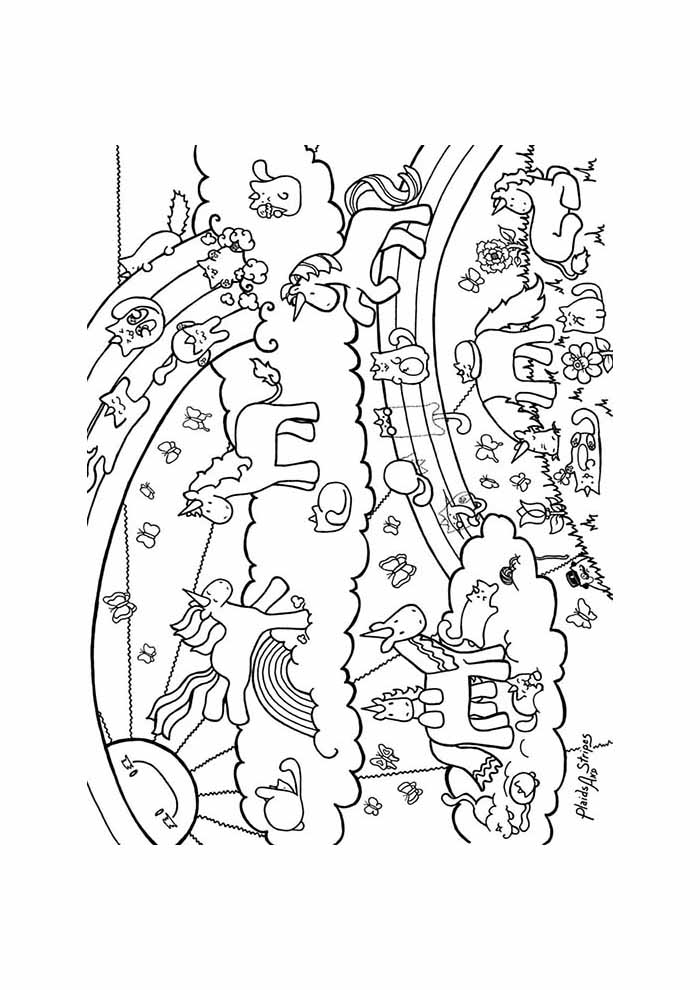 little unicorns coloring page