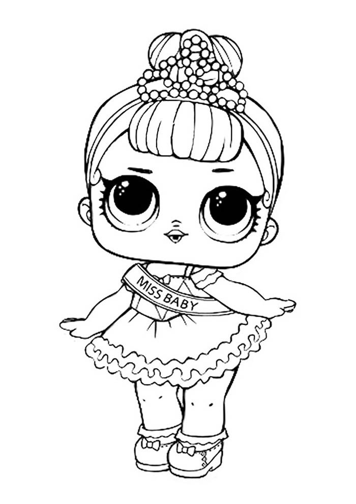 lol coloring page miss baby