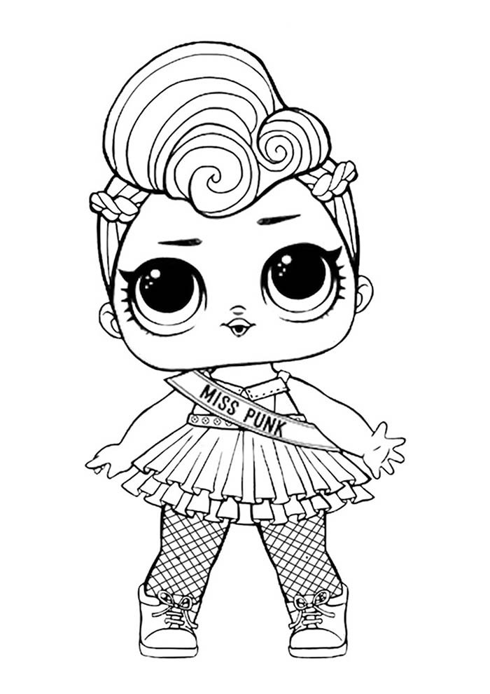 lol coloring page miss punk