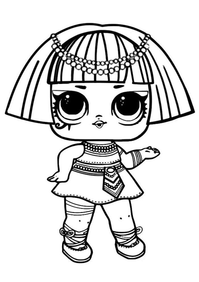 lol coloring page pharaoh babe